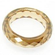 Golden Cubic Zirconia Rings
