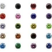 colored cz stones