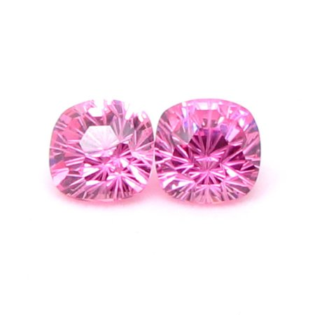 Cushion Pink Chrysanthemum Cut CZ stone