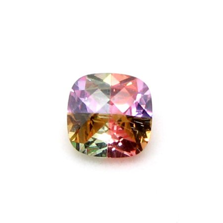 Custom Checker Cut Cushion CZ Stone Multi-colored