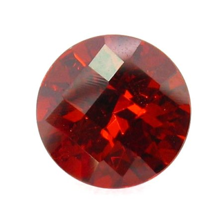 Custom Cut CZ Checker Round Garnet
