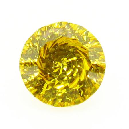 Round Vortex Millennium Cut CZ Stone Gold