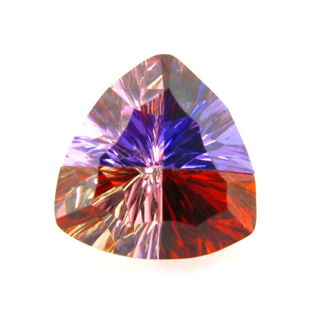 Trillion Millennium Cut Multicolor CZ Stone